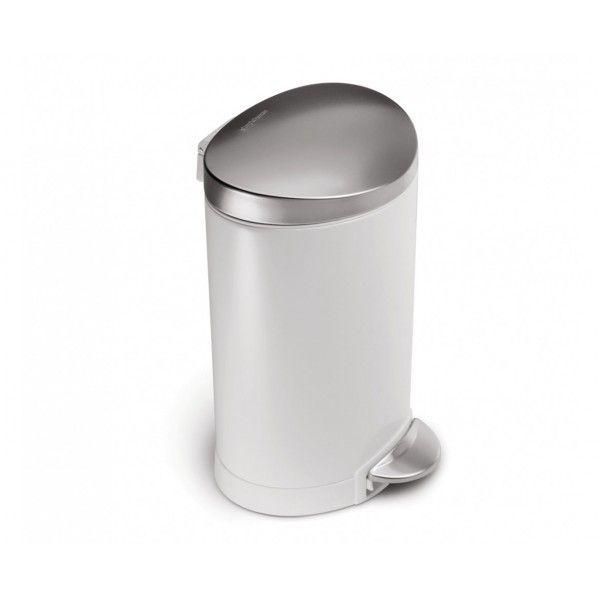Balde p/ lixo branco SIMPLEHUMAN CW1835CB