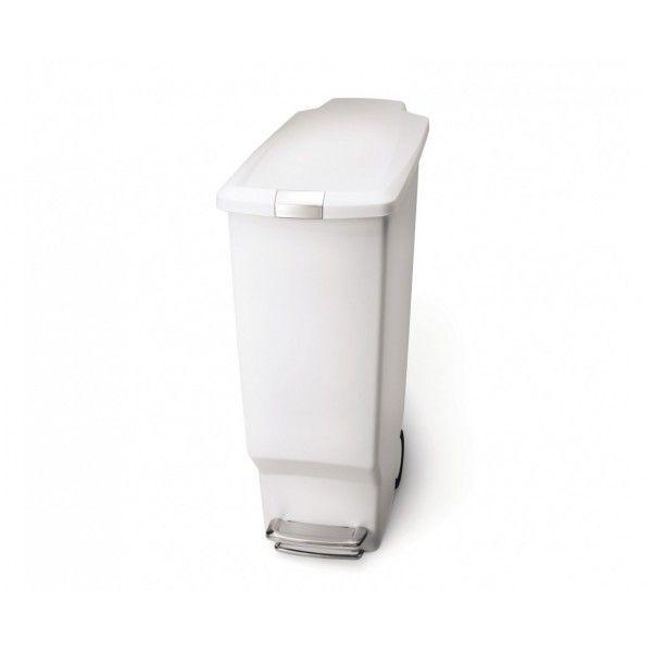 Balde p/ lixo slim branco SIMPLEHUMAN CW1362