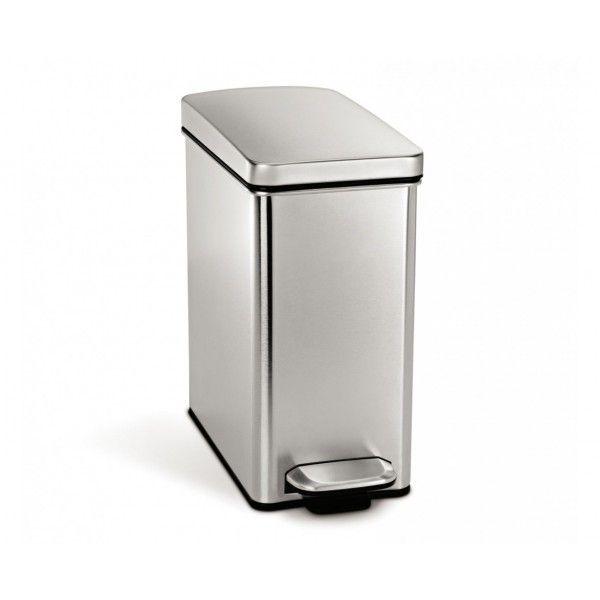 Balde p/ lixo rectangular SIMPLEHUMAN CW1898CB