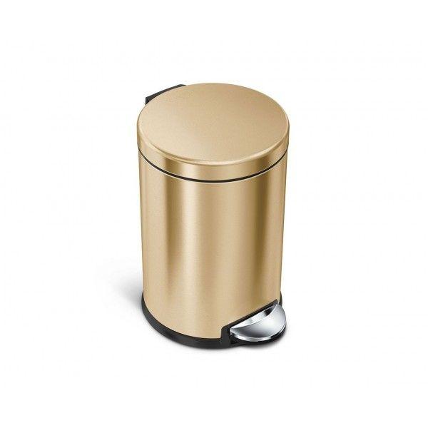Balde p/ lixo dourado SIMPLEHUMAN CW2074