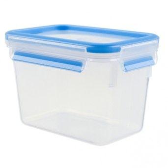 TEFAL Caixa para conservação de alimentos retangular em plástico 1,1 l azul K3021302