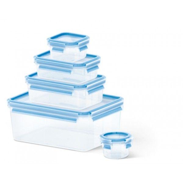 Tefal Conjunto de 5 caixas 3,70l+1l+0,55l+0,25l+0,15l azul K3029012