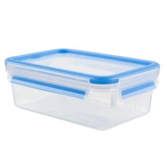 Tefal Caixa para conservação de alimentos retangular em plástico 0,55 l azul K3021112
