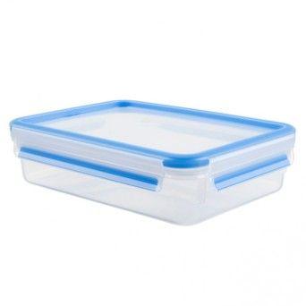 Caixa para conservação de alimentos retangular em plástico 1,2 l azul K3021412